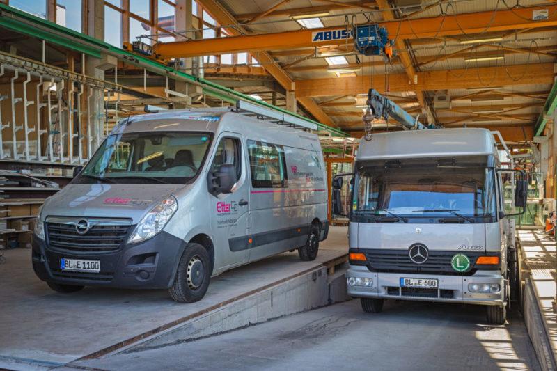 Produktion Fahrzeugpark