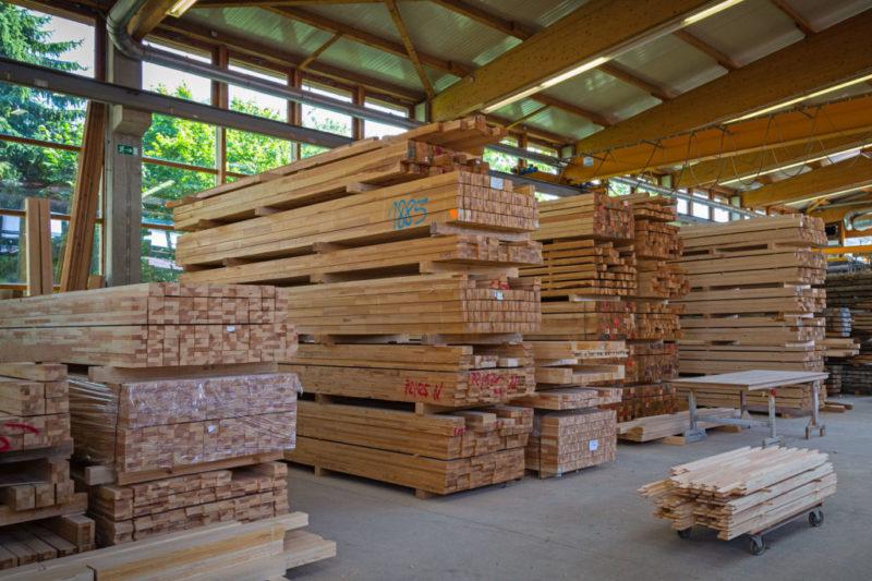 Produktion Holzlager