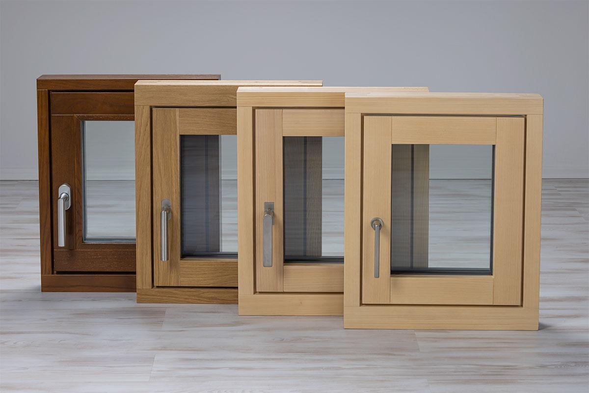 Übersicht Holz-, Holz-Aluminium Fenster innen