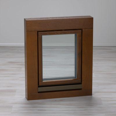 Holzfenster aussen Eiche braun lasiert