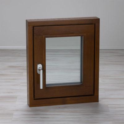 Holzfenster innen Eiche braun lasiert