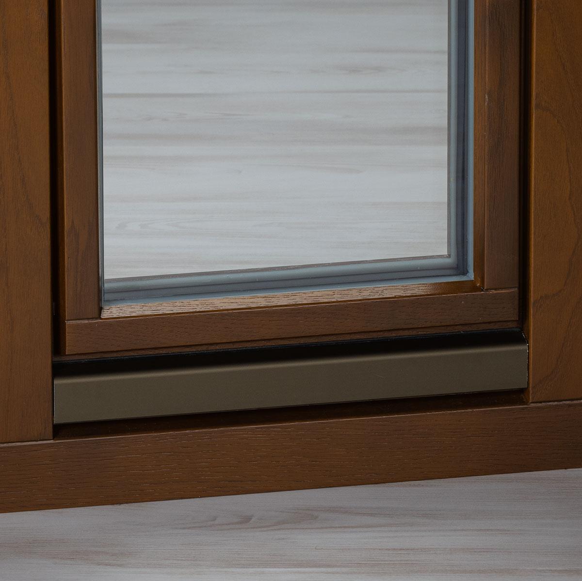 Regenschiene C33 Holzfenster Eiche